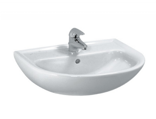 Laufen Pro 55 Washbasin In White - With One Tap Hole - (Model 810951000104)